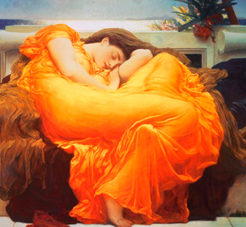 double-meaning-Flaming-June-by-Frederick-Leighton-1895