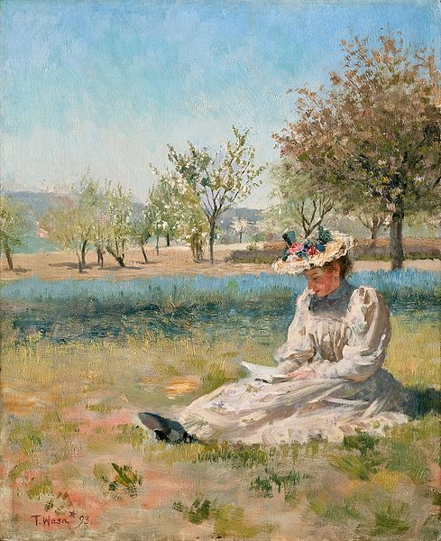 Torsten_Wasastjerna_-_Woman_in_the_Garden,_1893