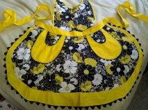 yellow full apron