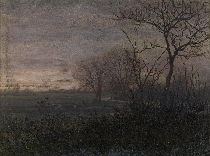 800px-Léon_Bonvin_-_Plowing_at_Dusk_-_Walters_371650