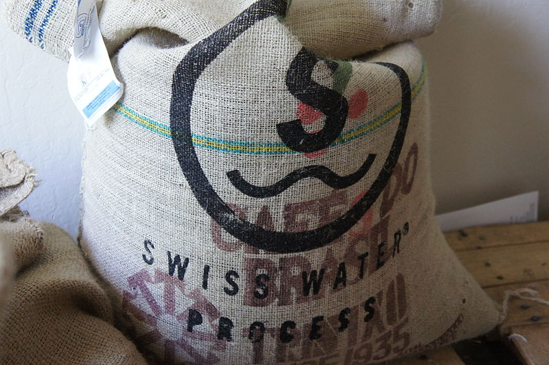 800px-Green_Decaffeinated_Brazilian_Coffee_Sack