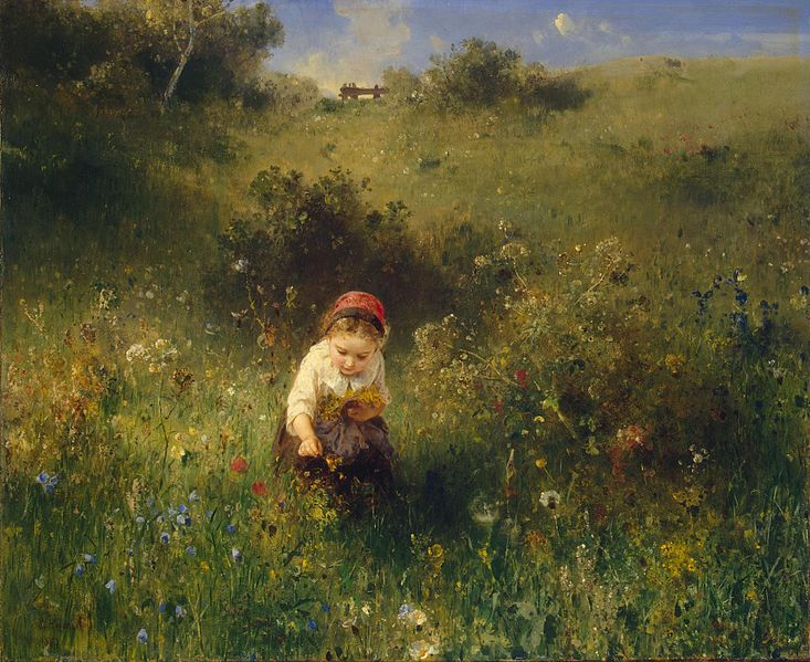 Knaus,_Ludwig_-_Girl_in_a_Field_-_1857