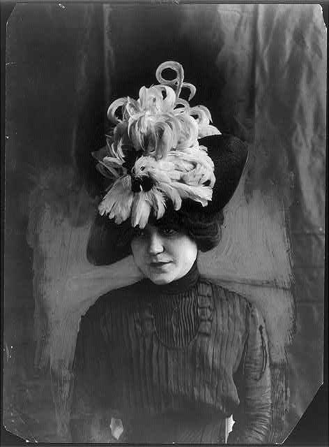British wear feather hats